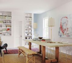 If it tends to become a ghost town or a junk heap, why not recast the dining room as a creative space?