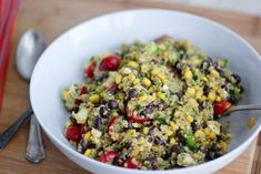 Guest Post with Bake Your Day | The Realistic Nutritionist.  Mexican quinoa salad with avocado dressing.