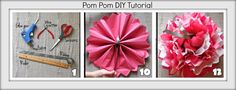 We three Rambling ladies love getting crafty. We also love simplicity! With Valentine's Day around the corner, we thought we'd bring some pink into our lives, and what better way to do so than with some quick and easy tissue paper pom-poms? These lovely bursts of color make simple, ceiling décor for only a few bucks a pop and are a really excellent DIY option for any rustic chic event! All you need to do is follow these 12 simple steps: 1.Gather your tools: scissors, wire cutters…