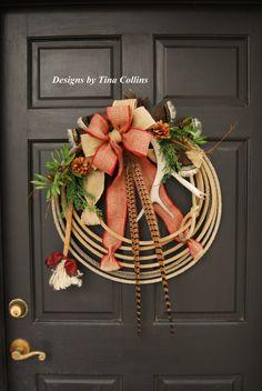 Lariat Antler Rope Wreath