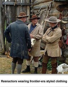 Revolutionary War Women Outfits | Frontier Clothing 01 Reenactors wearing frontier-era styled clothing