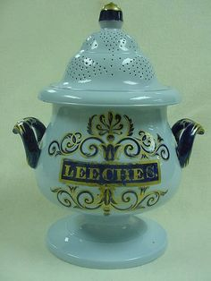 Staffordshire leech jar from about 1840; used to store leeches used in bloodletting