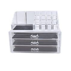 Acrylic Jewelry Cosmetic Makeup Storage Box Display Kit Organizer Drawers NEW