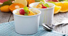 Recette de Gratin d'oranges léger en timbales. Facile et rapide à réaliser, goûteuse et diététique. Ingrédients, préparation et recettes associées.