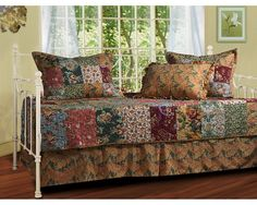 Greenland Home Antique Chic Twin 5 Piece Daybed Bedding Set - The Home Decorating Company has the Best Sales & Prices on the Greenland Home Antique Chic Twin 5 Piece Daybed Bedding Set Daybed Room, Daybed Bedding, Bedding Sets, Daybed Cover Sets, Daybed Sets, Trundle Beds, Quilt Set, Quilt Cover, Cover Pillow