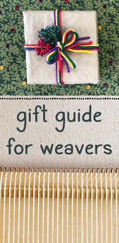 I've put together my favorite things - you'll find fun little gift ideas as well as essential tools and equipment for the weaving studio. Weaving Tools, Weaving Projects, Loom Weaving, Hand Weaving, Loom Knitting Patterns, Bead Loom Patterns, Knitting Tutorials, Free Knitting, Stitch Patterns