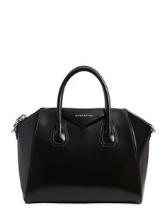 GIVENCHY - SMALL ANTIGONA POLISHED LEATHER BAG - TOP HANDLES - BLACK - LUISAVIAROMA