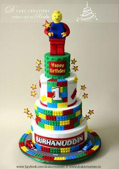 Boys Lego Themed Th Birthday Party Lego Birthday Party - Lego birthday cake decorations