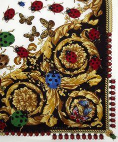 46f3353c960 Black and White Ladybird Print Silk Scarf