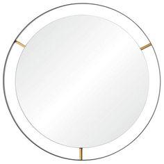 Framed Matte Black 30-Inch Round Mirror