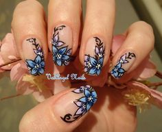 """Nail art """"Floral French"""""""