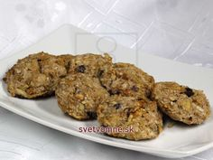 Recipe for healthy apple cookies, full of energy. Cookie Recipes, Dessert Recipes, Desserts, Apple Cookies, Baking Tins, Valspar, Biscotti, Kids Meals, Muffin