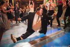 """Big Poppa"" groom doing the splits at his wedding!  Go Tony!  (@Liz Rote)"