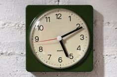 Green 70s Krups Wall Clock | Midmodi