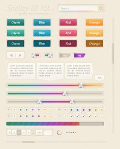 Shelby Web UI Kit v1 (Free PSD) by ~UltraMegaKev on deviantART