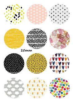 Daylight 12 Images/Dessins/collages/Scrapbooking digitales pour cabochon 30/25/20/18/16/15/14/12/10/8 mm Rond/Carré/Ovale