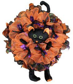 Black Cat wreath enhancement. #black #cat #Halloween #wreath #enhancement #craigbachman