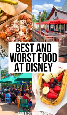 Best And Worst Food At Disney   What to eat at Disney   best food to eat at Disney world   where to eat at Disney World   best restaurants at Disney world   tips for eating at Disney   best dining options at disney   tips for planning a trip to Disney world   disney world food   disney travel tips #disneyfood #disneyworld