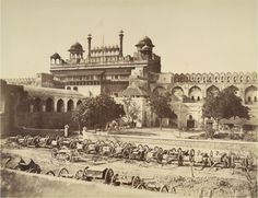 Lahore Gate of the Palace, Delhi. Photographic print by Robert and Harriet Tytler, Delhi 1858. British Library.