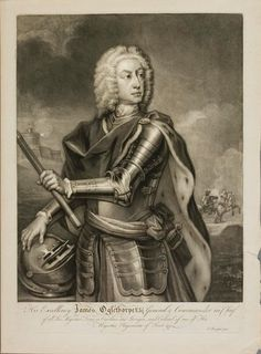 """His Excellency James Edward Oglethorpe"" by Thomas Buford, c.1740, London (Mezzotint)"