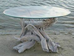 Beautiful driftwood table furniture and log cabin furniture. Log cabin tables and fireplace mantels.