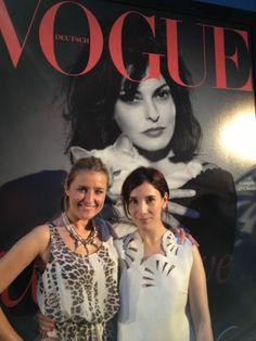 Enjoying Fashion Week 2013 with Sibel Kekilli.