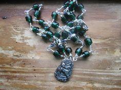Magickal Moon Hare - hare rosary, hare prayer beads, moon rosary,moon prayer beads, magick hare, magick moon, goddess hare, celtic rosary by MagickAlive on Etsy