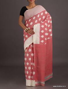 Shradha White Circles of Splendor Ikat                      #PochampallycottonSaree