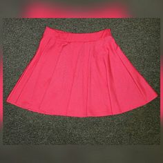 Ambiance Apparel Pink Skater Skirt Condition: 10/10 Style: Could be worn high waisted or regular at the hips. The skirt is pleated once on. Ambiance Apparel Skirts Circle & Skater