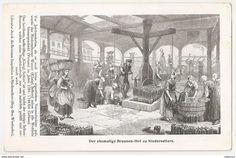 """Alt Ansichtskarte """"Der ehemalige Brunnen-hof zu Niederselters"""" - Deutschland."""