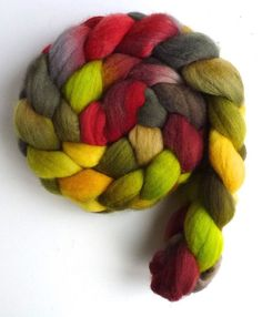 Targhee Wool Roving Hand Painted Spinning or by threewatersfarm