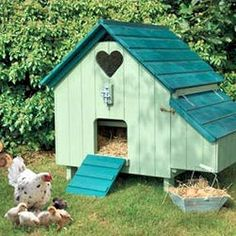 Cute chicken coop,I want one like this for my bantam chicks so cute.