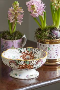 BUTTER WAKEFIELD'S loves to put bulbs in all of her antique pink mugs for Christmas, divine scent!