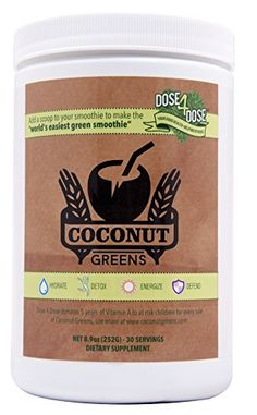 Coconut Greens - Hydrating Coconut Water with Serves of detoxing Super Greens Best Smoothie Recipes, Good Smoothies, Organic Greens Powder, Organic Supplements, Barley Grass, Green Superfood, Superfood Powder, Organic Superfoods, Green Powder