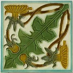 Art Nouveau Tile ~ West Side Art Tiles -3278n310p0>