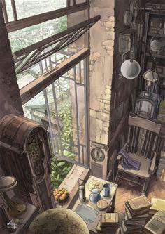 Background illustration s Anime Scenery, Art Graphique, Fantasy Landscape, Environment Design, Art Inspo, Amazing Art, Concept Art, Cool Art, Anime Art