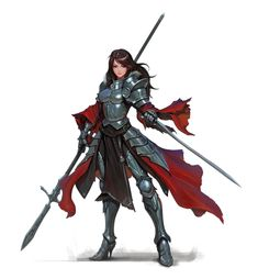 Female Human Cavalier Knight - Pathfinder PFRPG DND D&D 3.5 5th ed d20 fantasy