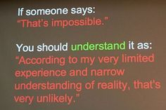 More words of wisdom...