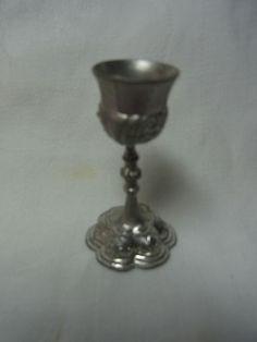 Vintage Miniature German Pewter Altar Chalice House Altar #AS8