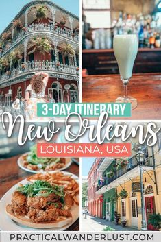 The Perfect New Orleans Itinerary (& Massive Travel Gu.- The Perfect New Orleans Itinerary (& Massive Travel Guide) Beignets. This massive New Orleans itinerary & travel guide has it alll - London Travel Guide, New Orleans Travel Guide, New Orleans Vacation, Usa Travel Guide, Travel Advice, Travel Usa, Travel Guides, Travel Tips, New Orleans Trip
