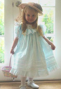Love the ruffled hem on this heirloom dress.
