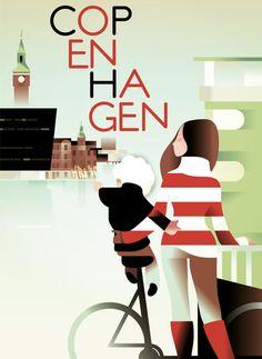 Copenhagen | #illustration #graphicdesign