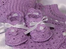 Häkelanleitung für Muscheln Babyschuhe