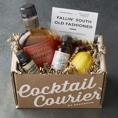 Bourbon Gifts, Whiskey Gifts, Old Fashioned Drink, Old Fashioned Recipes, Gift Hampers, Gift Baskets, British Gifts, Cocktail Gifts, Client Gifts