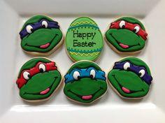 1 dozen Teenage Mutant Ninja Turtle decorated by NatSweetsCookies, $40.00