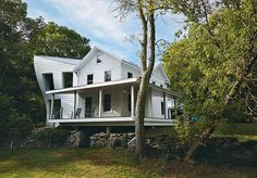 Love Love this home!! Twisted Farmhouse designed by Tom Givone in Falls, Pennsylvania