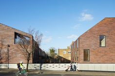 Situated on a corner plot opposite Peckham Rye park, The Rye Apartments consists of two angular, shingled buildings that are host to six and four homes.