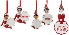 The Elf On The Shelf Personalized NAME Ornaments by Department 56