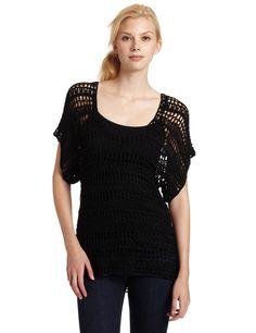 Crochetemoda: Blusa Preta de Crochet