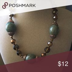 "Expired 16"" necklace Beaded, bronze, brown and green colors Premier Designs Jewelry Necklaces"
